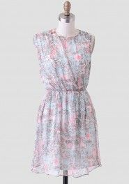 Lost in Thought Watercolor Dress
