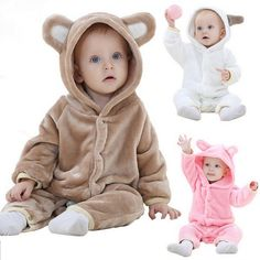 Baby Costume Rushed Special Offer Unisex 2016 Spring And Autumn Baby Pure Cotton Cute Bear Animal Modeling Clothes Children Set