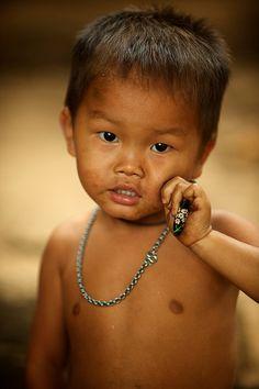 Laos - Hmong village