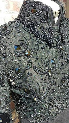 Sophisticated patterns, gimp, beads and sequins in beautiful embroidery haute couture - Fair Masters - handmade, handmade Tambour Beading, Tambour Embroidery, Couture Embroidery, Embroidery Fashion, Ribbon Embroidery, Embroidery Stitches, Embroidery Patterns, Western Show Clothes, Horse Show Clothes