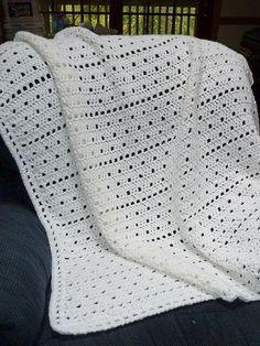 Crochet Afghan Patterns Ravelry: Carefree Filet pattern by Linda Luder - Crochet Baby Blanket Free Pattern, Baby Afghan Crochet, Baby Afghans, Afghan Crochet Patterns, Crochet Stitches, Free Crochet, Knit Crochet, Baby Blankets, Crochet Blankets