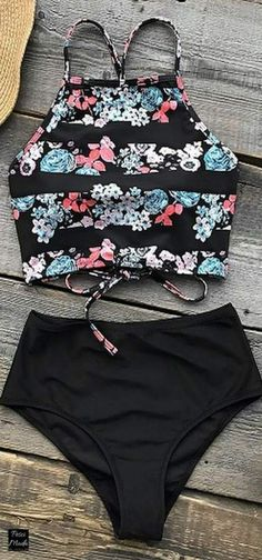 # - Swimsuits - Ideas of Swimsuits - 2018 Spring Swim Set High Waisted Swimsuit. Bathing Suits For Teens, Summer Bathing Suits, Swimsuits For Teens, Cute Bathing Suits, Plus Size Swimsuits, Two Piece Swimsuits, Cupshe Swimsuits High Waist, Cute Swimsuits High Waisted, Summer Bikinis