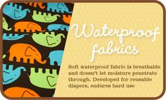 Soft waterproof fabric breathes, is flexible and keeps moisture reliably. Check out our collection of prints in our online store! Reusable Diapers, Cloth Diapers, Buy Fabric, Waterproof Fabric, Soft Fabrics, Sewing Patterns, Prints, Fabrics, Patron De Couture
