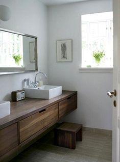 Mobile da bagno per lavabo in legno massello 160x45x45