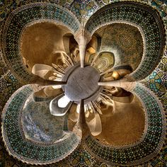 photos by mohammad reza domiri ganji in iran of: the dome of the seyyed mosque in isfahan;r al mulk mosque, or pink mosque, in shiraz; the vakil mosque in shiraz; the ceiling of the fifth floor of ali qapu in isfahan; Mosque Architecture, Art And Architecture, Persian Architecture, Pink Mosque, Beautiful Mosques, Architectural Photographers, Beautiful Architecture, Rare Photos, Islamic Art