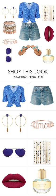 """Latina style"" by aanya-i ❤ liked on Polyvore featuring Topshop, RE/DONE, Isabel Marant, Alexander McQueen, Huda Beauty and Elie Saab"