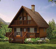 A Chalet House Plan - 8807SH | Cottage, Mountain, Vacation, Narrow Lot, 2nd Floor Master Suite, CAD Available, PDF | Architectural Designs