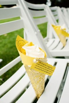 """""""After the big kiss, be ready for this; the couple will smile as they walk down the aisle. And that is your cue to toss high in the air; these petals of love for this happiest pair!""""    Great idea for your guests to throw as you walk away with your groom."""