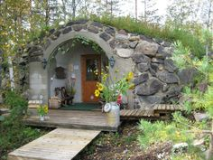 Finnish cottage w/sauna nearby. LOOKS LIKE A HOBBIT HOUSE