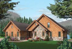 Coastal Country Craftsman House Plan 64981