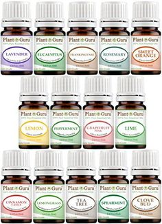 Essential Oils Set 14  5 ml Pure Therapeutic Grade Includes Frankincense Lavender Peppermint Rosemary Orange Tea Tree Eucalyptus Grapefruit Lemon Lime Clove Spearmint Lemongrass Cinnamon -- See this great product. #DIYSkinCareProduct