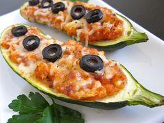 stuffed zucchini pizzas