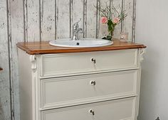 abb e landhaus waschtisch mit aufsatz von badm bel. Black Bedroom Furniture Sets. Home Design Ideas