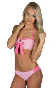 Lauren James - Seersucker Bandeau Bikini Top