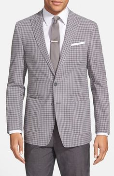 Peak lapel patch pocket blazer