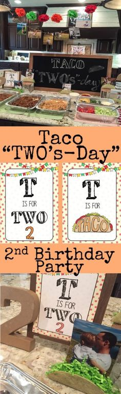 """Taco """"TWO's-day"""" 2nd birthday party.  Lots of ideas on how to create this fun, easy, yummy party!"""