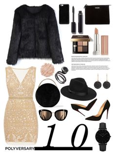 """""""Celebrate Our 10th Polyversary!"""" by waikiki24 on Polyvore featuring moda, Nicole Miller, Eddie Borgo, Chicwish, Christian Louboutin, Lack of Color, CLUSE, Astley Clarke, Bobbi Brown Cosmetics e Maybelline"""