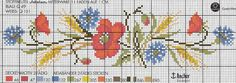 "Short of designs and diagrams"" Cross Stitch Bookmarks, Beaded Cross Stitch, Cross Stitch Flowers, Cross Stitch Charts, Cross Stitch Patterns, Cross Stitch Kitchen, Red Poppies, Diy Flowers, Needlework"