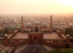 La Jama Masjid, grande mosquée de Delhi, en Inde