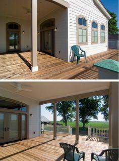 Outdoor farmhouse room addition