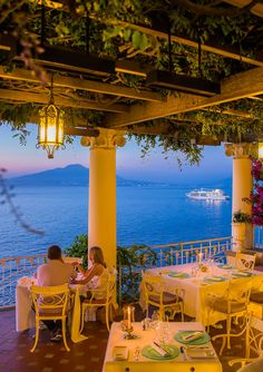 """La Pergola"" at Bellevue Syrene is without any doubt the most romantic restaurant in Sorrento..."