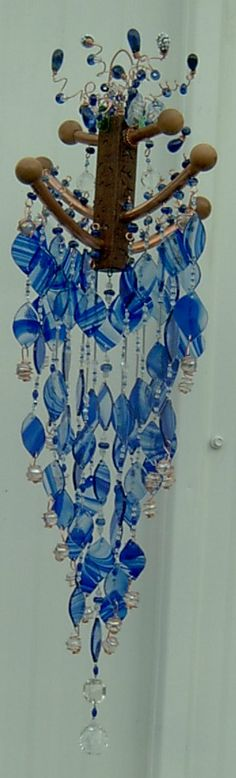 Blue Horizon wind chime by Sandy More