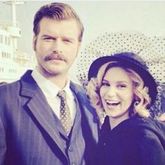 On Farah's last day of shooting Kurt Seyit ve Sura Kurt Seyit And Sura, Drama Tv Series, Sad Stories, Turkish Actors, Movies Showing, Gq, Cute Couples, Netflix, Tv Shows