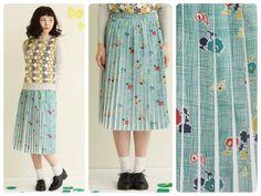 \ZOZONEWS/ figLondonのチェック×フラワープリーツスカート。本日より通常販売スタート!▶︎▶︎http://zozo.jp/sp/shop/latelierdusavon/goods/4920629/?did=…