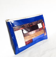 Multi Coloured Oversized Clutch. by MoBacchus on Etsy