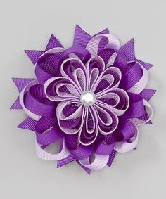 This Purple Layered Flower Bow Clip is perfect! #zulilyfinds