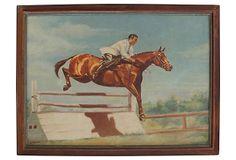 1930s Equestrian Scene on OneKingsLane.com