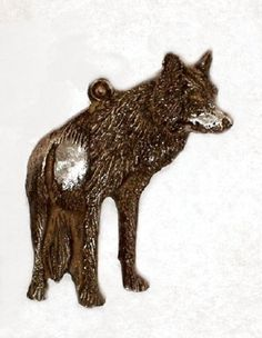 New Design Gray Wolf......Look by McCloud9Jewelry on Etsy