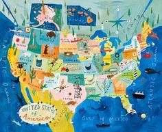 Los diferentes partes de los estados unidos