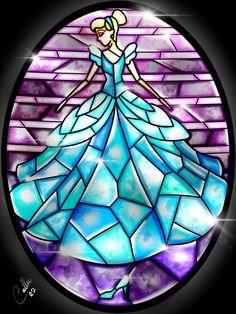 Stained Glass Cinderella by CallieClara.deviantart.com on @DeviantArt