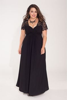Plus Size Gown in Black