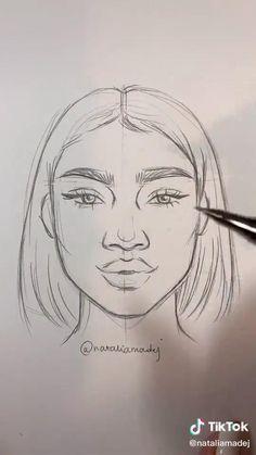 Art Drawings Beautiful, Art Drawings Sketches Simple, Pencil Art Drawings, Realistic Drawings, Ideas For Drawing, Pencil Drawings For Beginners, Face Drawings, Drawing Pictures, Pencil Drawing Tutorials