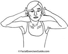 Exercise for the face:  Delicate Eyelid Facial Exercise