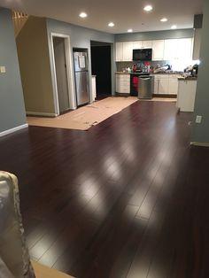 "New hardwood floors at the ""J"" residence renovation."