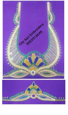 Embroidery Blouses, Aari Embroidery, Jewelry, Jewellery Making, Jewerly, Jewlery, Jewelery, Ornament
