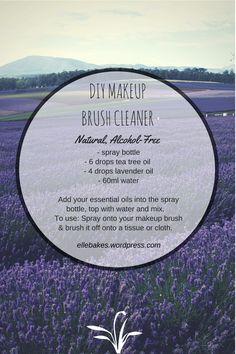 DIY Natural Makeup Brush Cleaner – NO ALCOHOL! | Elle Bakes