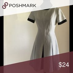 """1950's high-neck black and white panel dress 50's high-neck black and white panel dress. With back zipper Can be worn for ANY occasion 🌸👠👗☺️ Size:S/M  Bust:34""""-35"""" Waist:28""""-29"""" Price: $24.00 Vintage Dresses"""