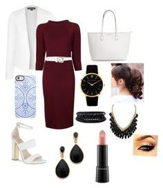 """""""Working woman"""" by danielle-alicia325 ❤ liked on Polyvore featuring Topshop, Carvela, Alexander McQueen, Michael Kors, Uncommon, Larsson & Jennings, Spring Street, MAC Cosmetics and Kenneth Jay Lane"""