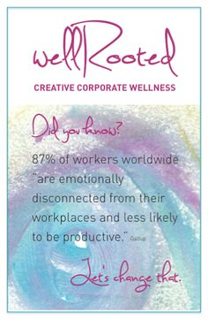 We will be at the Northern Illinois Employee Assistance Professionals Association Conference  today with our Creative Corporate Wellness Branch, wellRooted, focusing on how to bring effective emotional wellness into the workplace.  Contact us to learn more about how wellRooted can help you build leadership, connection and synergy in your teams and even experience a FREE session!