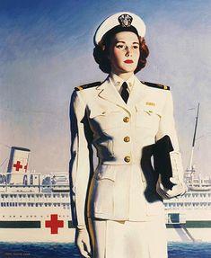 "National Nurse Week history: ""1908 The United States Navy Nurse Corps is established.""    WWII US Navy Nurse Recruiting Poster   #NationalNursesWeek2012"