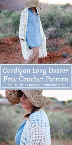 Crochet Cardigan Pattern Free Women, Diy Crochet Cardigan, Crochet Sweaters, Easy Crochet Patterns, Crochet Designs, Crochet Clothes, Free Crochet, Granny Style, Unique Crochet