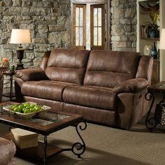 Simmons Upholstery Phoenix Mocha Double Motion Sofa
