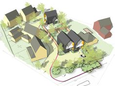 Concept design for 3 new build houses in Braintree, Essex