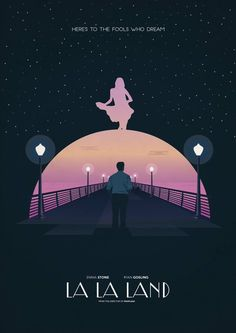 La La Land (Damien Chazelle) Hated the movie, love the poster. Beau Film, Minimal Movie Posters, Cinema Posters, Book Posters, Movie Poster Art, Poster S, Film Poster Design, Poster Designs, Design Posters