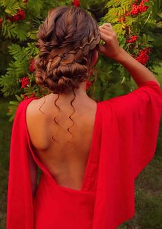 Are you searching for latest wedding hair styles to show off on wedding occasions? Just see here and find our best collection of braided updo hairstyles just to make you look extra charming and hot. Braided Hairstyles Updo, Bun Updo, Braided Updo, Updos, Wedding Hairstyles, Updo Hairstyle, Bun Styles, Belted Dress, Hair Type