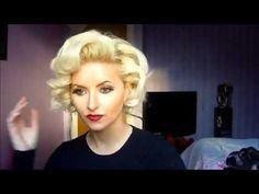 Vintage Marilyn Monroe Pin Curls Hair Tutorial - YouTube